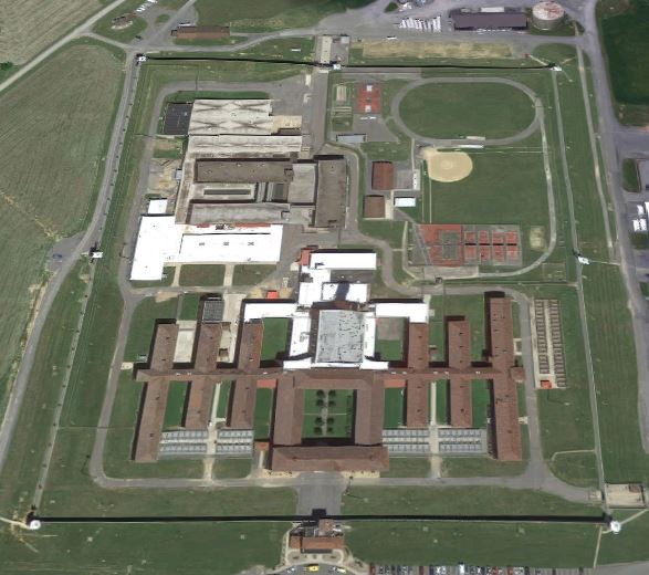 United States Penitentiary - Lewisburg - Overhead View